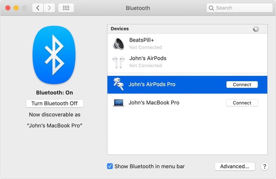 Set up AirPods with your Mac and other Bluetooth devices