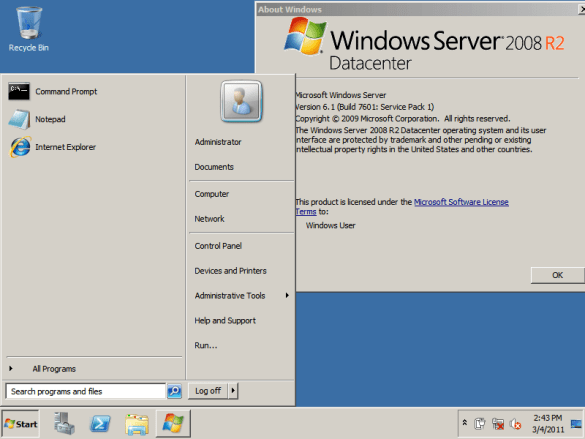 Where can you download Windows Server 2008 R2 for free