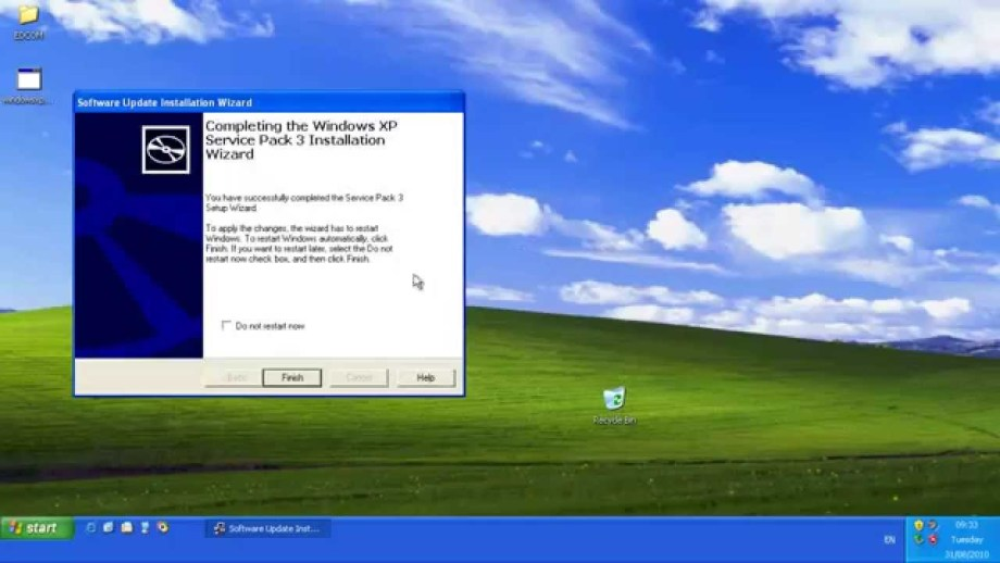 You can download Windows XP SP3 ISO for free
