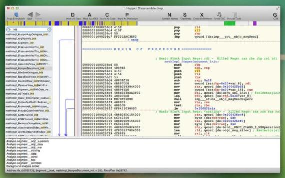 You can download Hopper Disassembler 4 for Mac