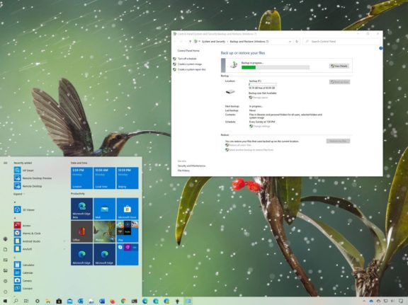 How to create a full system backup in Windows 10