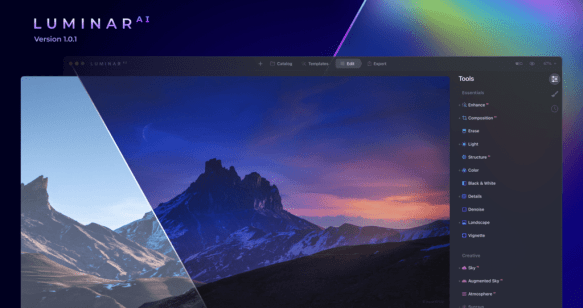 You can download Luminar AI 1 for Mac