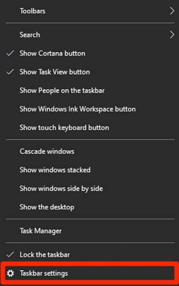 Move the Taskbar to Any Side of the Screen - Windows 10 1