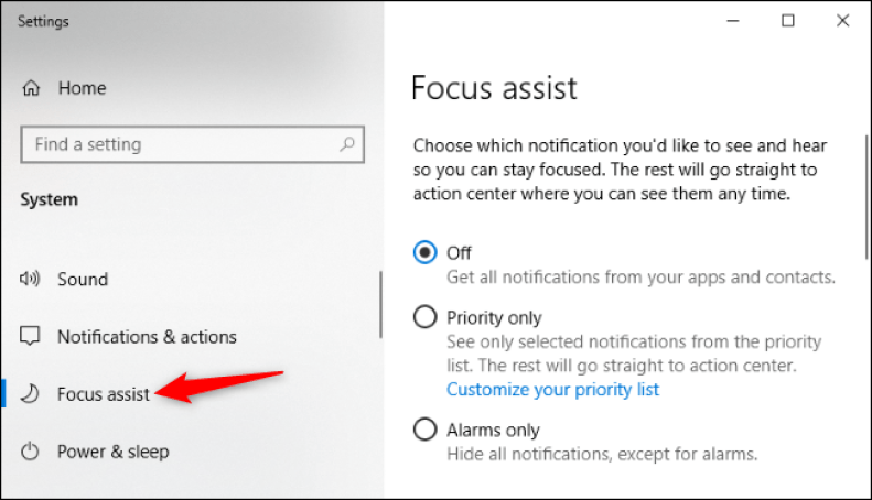How to Disable Windows 10's Annoying Focus Assist