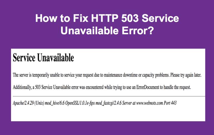 How to Fix 503 Service Unavailable Error in Windows 10