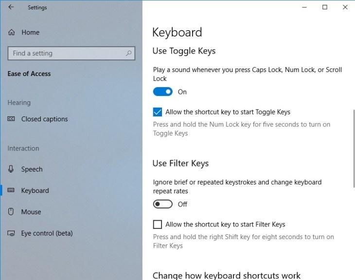 Windows 10 - How to Fix Stuck Caps Lock and Num Lock Keys 2