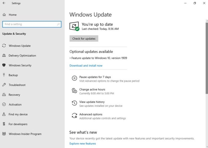 KB5003212 and KB5003217 Updates Available for Windows 10 Version 1909 and 1809 3