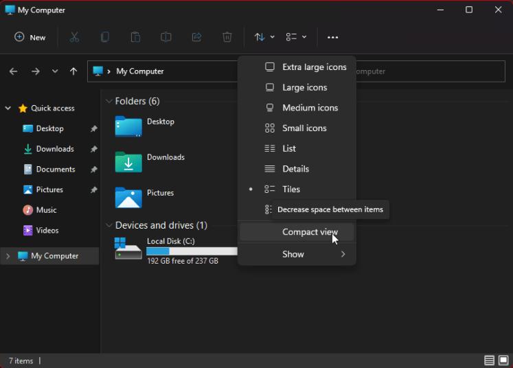 How to Restore File Explorer Classic Spacing in Windows 11 3