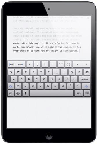 how do i type a dash on my ipad