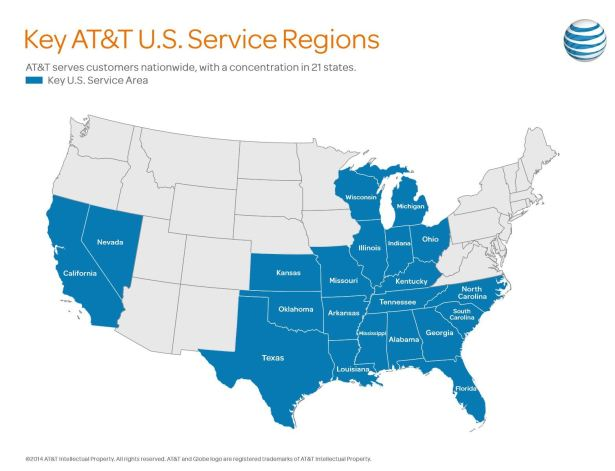 AT&T Internet Access Service Area