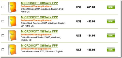 Harga MSOffice 2007