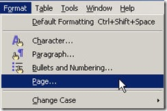 PageSetup OpenOffice