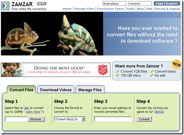 zamzar.com, File Converter Online