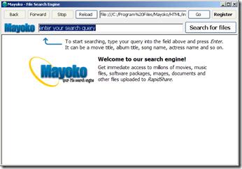 Mayoko, RapidShare Search Engine