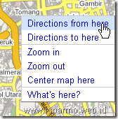 Google Maps directions from here