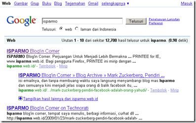 Google Search Engine Result Page (SERP), Search Engine Optimization