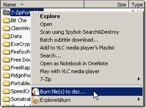 Explore&Burn, burning software,freeware