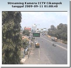 CCTV pemantau arus lalu lintas daerah Cikampek