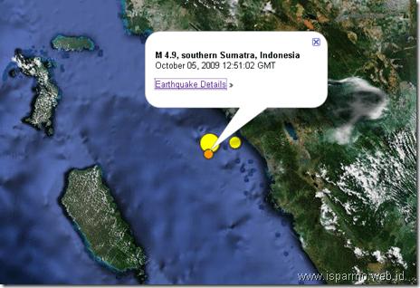 Google Mpas untuk pantau gempa terkini