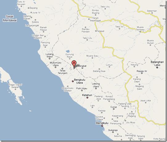 Pusat Gempa Bumi Jambi 1 Oktober 2009