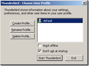 Thunderbird User Profile