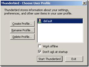Thunderbird User Profile
