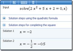 Persamaan Kuadrat Microsoft Mathematics