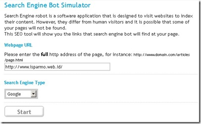 Search Engine Robot Simulator online