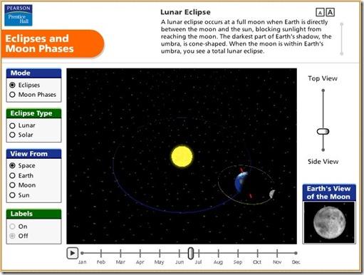 Simulator Gerhana Bulan - Matahari