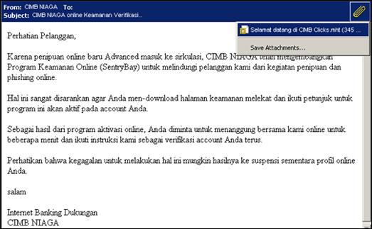 Email Spam dari Bank CIMB