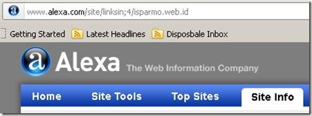 Cek backlink menggunakan Alexa