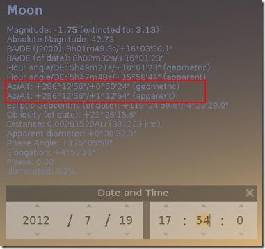 Penentuan 1 Ramadhan 1433 H dg Stellarium