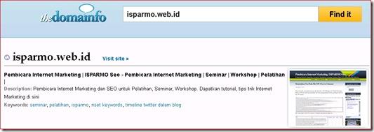 Backlink WhoIs Indexer