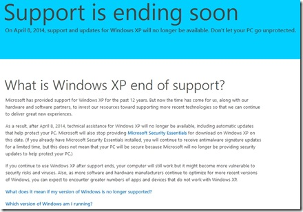 Windows XP akan berakhir