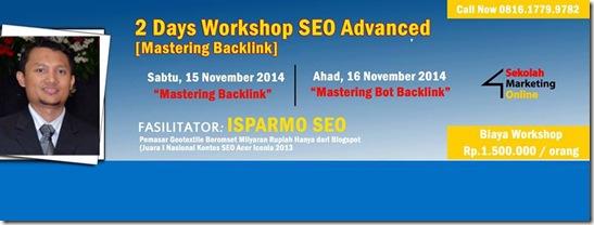 Header Workshop SEO Jakarta 15-16 Nov 2014