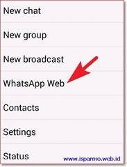 Cara menggunakan WhatsApp Web di komputer - menu Android