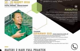 Kursus Pelatihan SEO Bekasi Jakarta Maret 2016