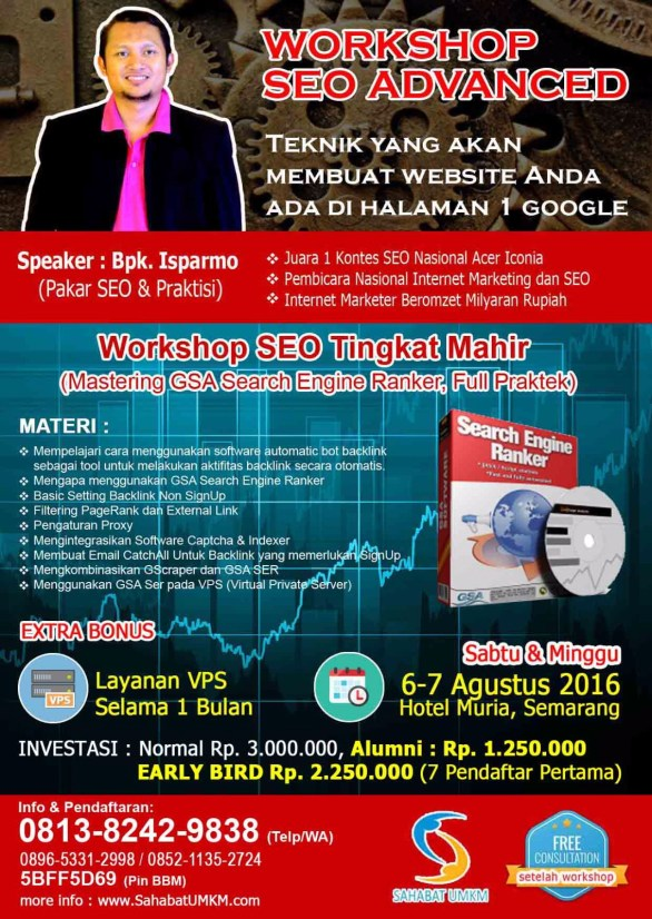 Pelatihan kursus SEO Internet Marketing di Semarang