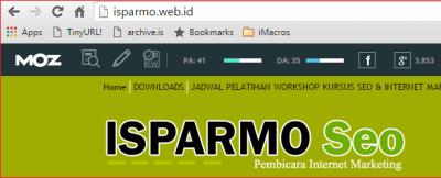 PA DA isparmo.web.id menggunakan Chrome