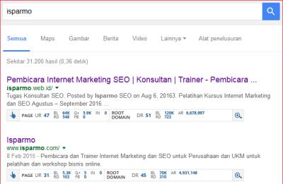 UR DR ahrefs isparmo.web.id