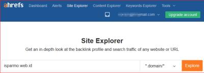 backlink cek ahrefs site explorer UR DR