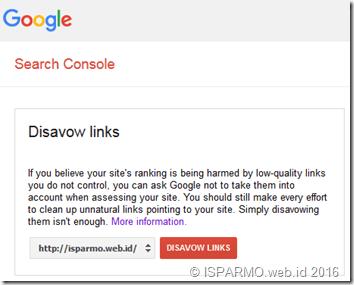 cara menggunakan disavow links