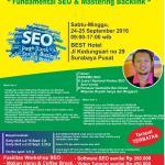 Pelatihan SEO Surabaya 24-25 September 2016