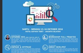 Pelatihan SEO software backlink GSA Search Engine Ranker di Jakarta 15-16 Oktober 2016