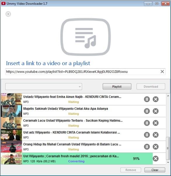 Cara download playlist video youtube dan mengconvert ke mp3 proses download isparmo.web.id