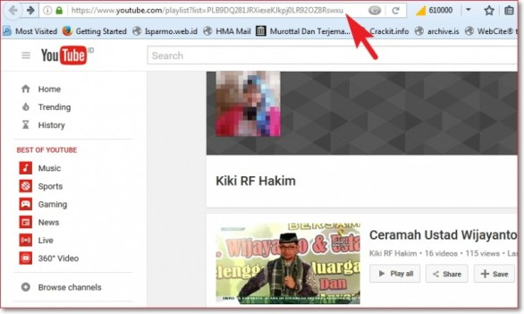 Cara download playlist video youtube dan mengconvert ke mp3 pilih Playlist isparmo.web.id