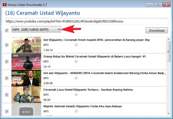 cara download mp3 dari mp4 youtube
