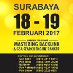Kursus, pelatihan SEO tingkat lanjut di Surabaya 18-19 Feb 2017