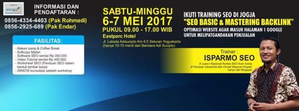 Pelatihan Kursus SEO Jogja 6-7 Mei 2017