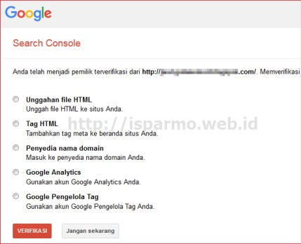 Cara mendaftar Google Webmaster Tools Pakar SEO
